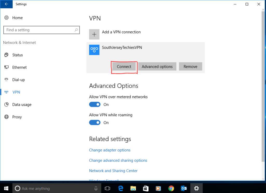 How to setup vpn access on server